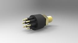 Standard Circular Bulkhead Connector, 8 Contacts , Male , Brass