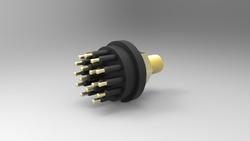 Standard Circular Bulkhead Connector, 16 Contacts , Male , Brass